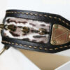 brass nameplate dog collar with spikes by Workshop Sauri