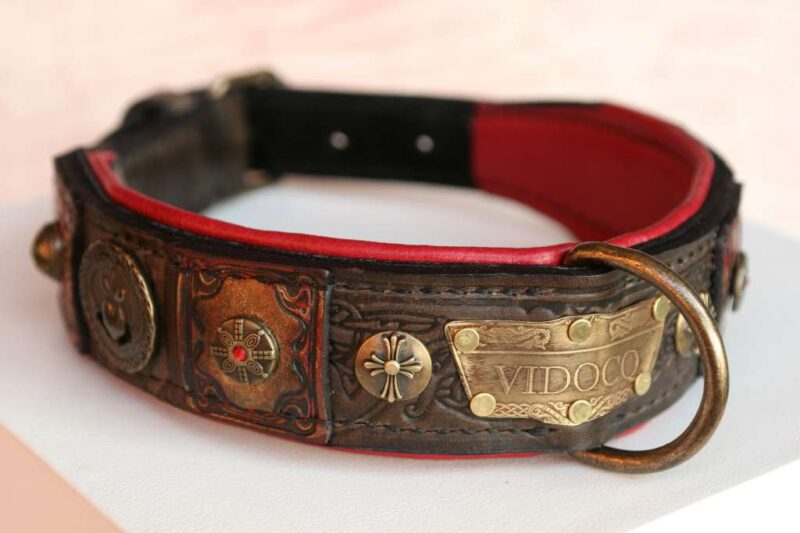 Ornamented dog collar - Vidocq - handmade by Workshop Sauri