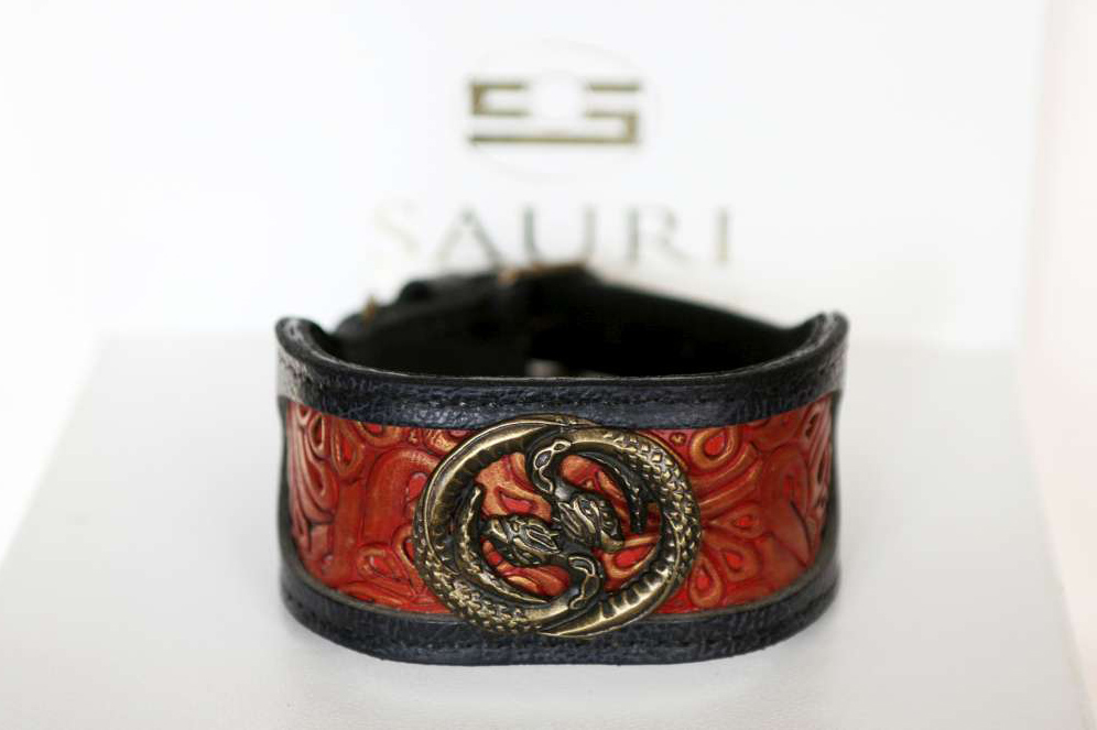 Azawakh dog collar handmade by Workshop Sauri