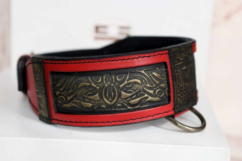 Black and gold embossing - RED SHANTI by Workshop Sauri