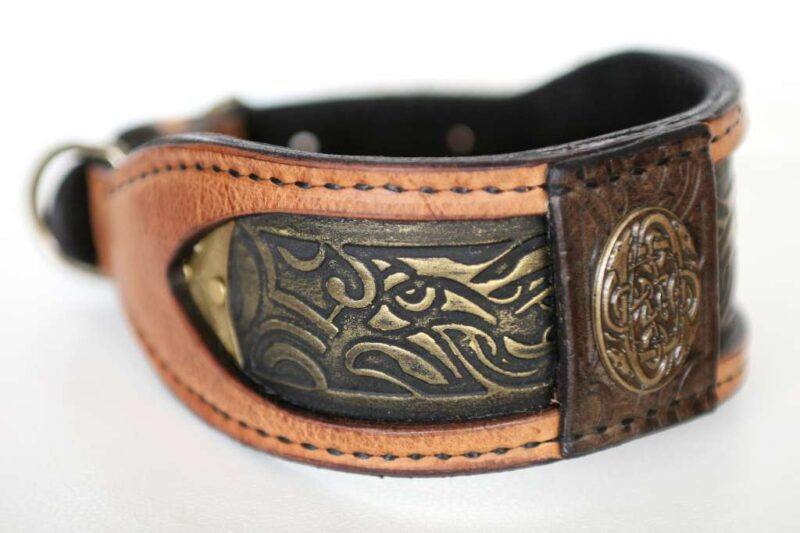 Elegant handmade dog collar by Workshop Sauri