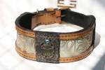 Designer dog collar Khepri handmade by Workshop Sauri