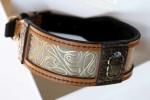 Handmade designer dog collar Khepri by Workshop Sauri