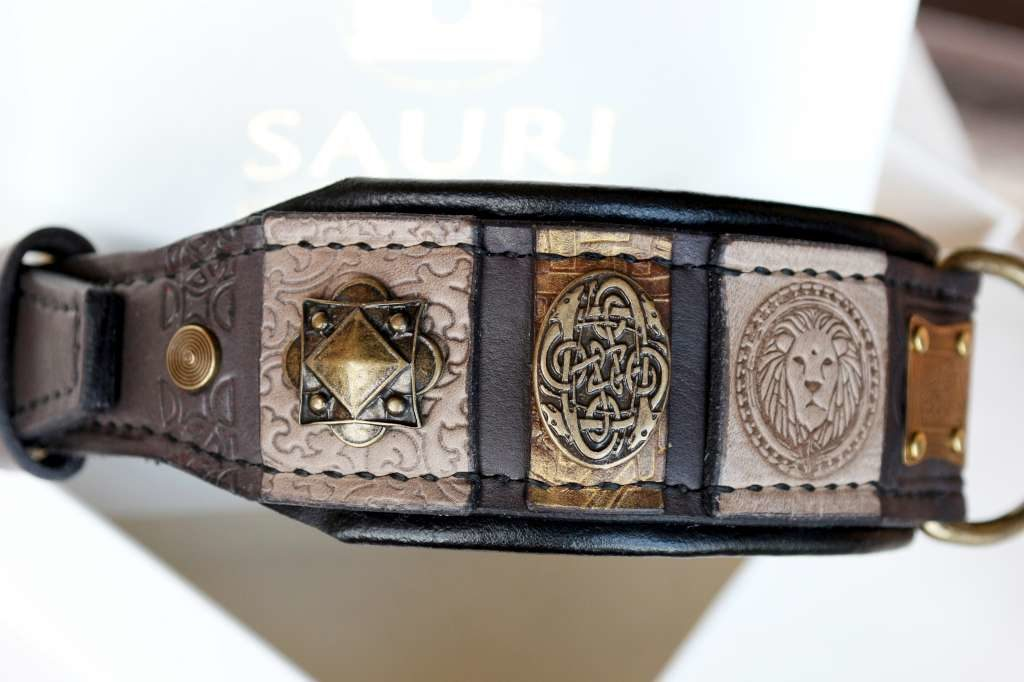 Custom embroidered dog collar by Workshop Sauri