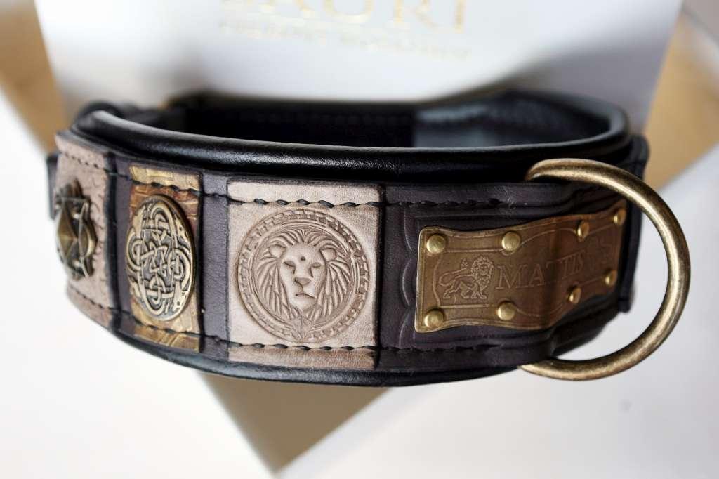 Custom embroidered dog collar - Mattis by Workshop Sauri