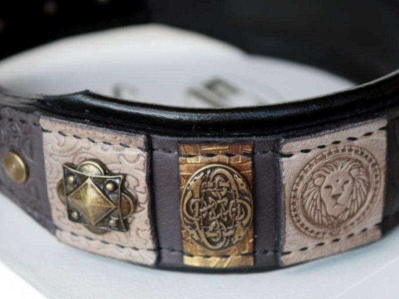 Custom embroidered dog collar by Workshop Sauri