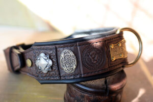 Ridgeback custom embellished dog collar by Workshop Sauri