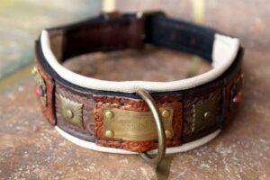 Custom made dog show collar by Workshop Sauri