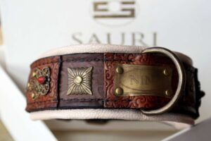 Custom made dog show collar by Workshop Sauri