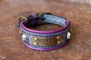 Personalized cute dog collar DAMARU by Workshop Sauri
