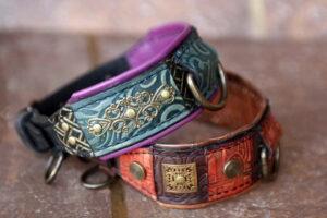 Custom made small dog collars by Workshop Sauri
