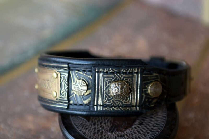 Art deco dog collar ROARK by Workshop Sauri