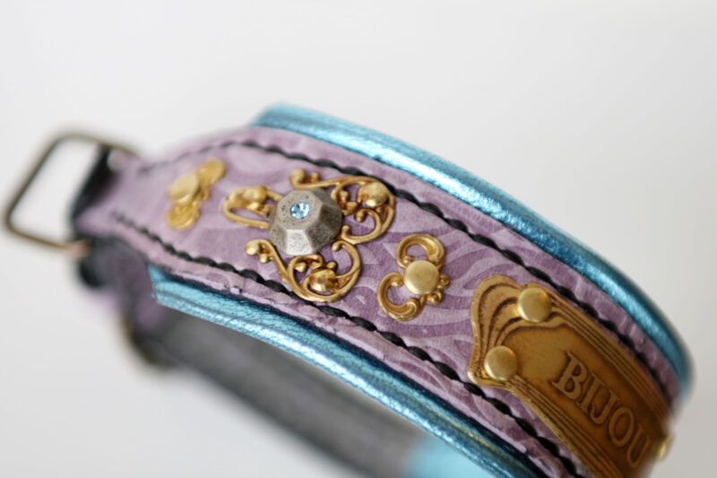 Bling dog collar Rococo by Workshop Sauri