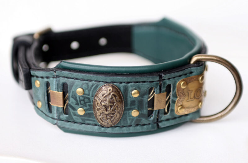 Personalized Viking dog collar LOKI by Workshop Sauri