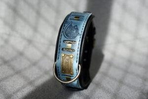 FENRIR dog collar with nameplate by Workshop Sauri