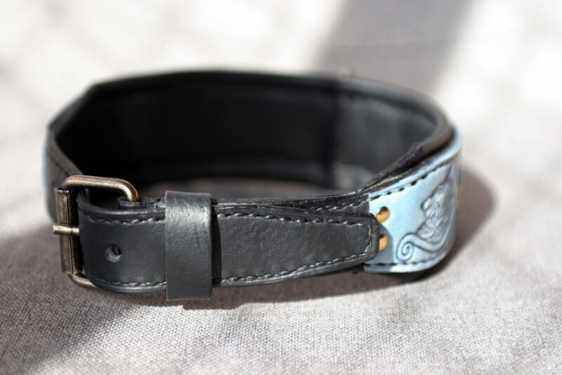 FENRIR leather dog collar by Workshop Sauri