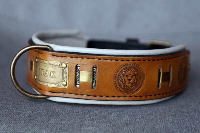 Luxury designer dog collar MAASAI by Workshop Sauri